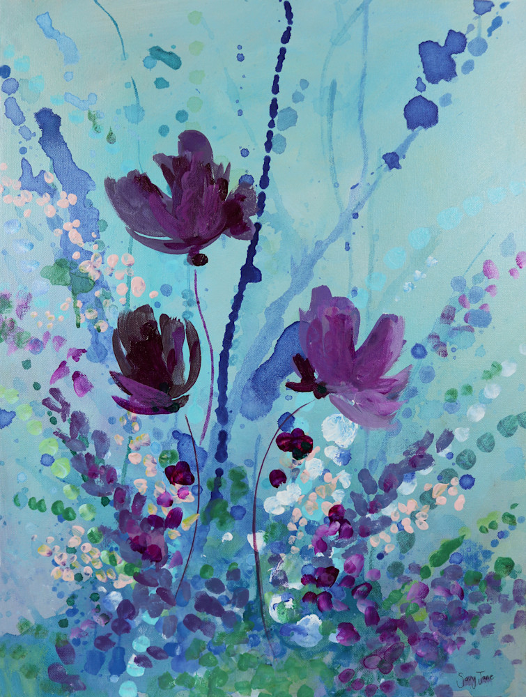 Graceful Winter Blooms I Art | Savy Jane Studios