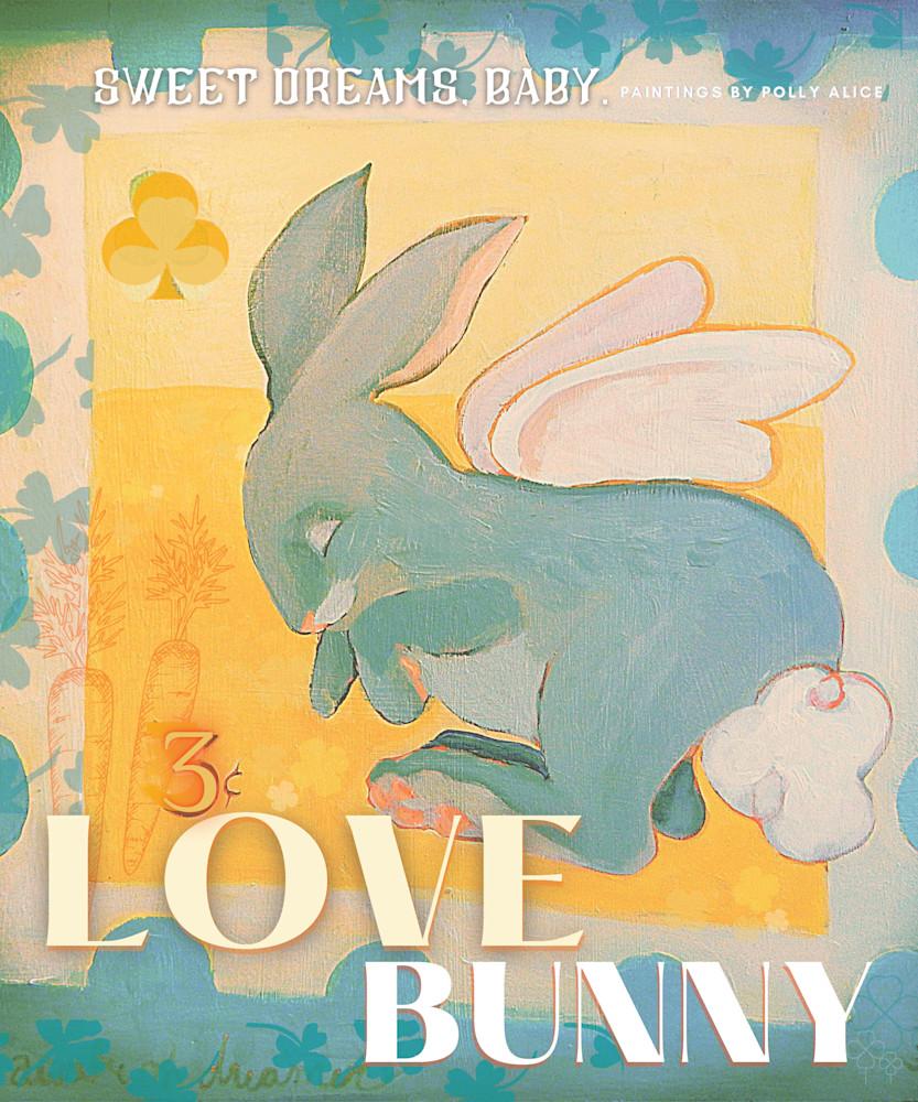 Love Bunny Stamp Art   Polly Alice Design