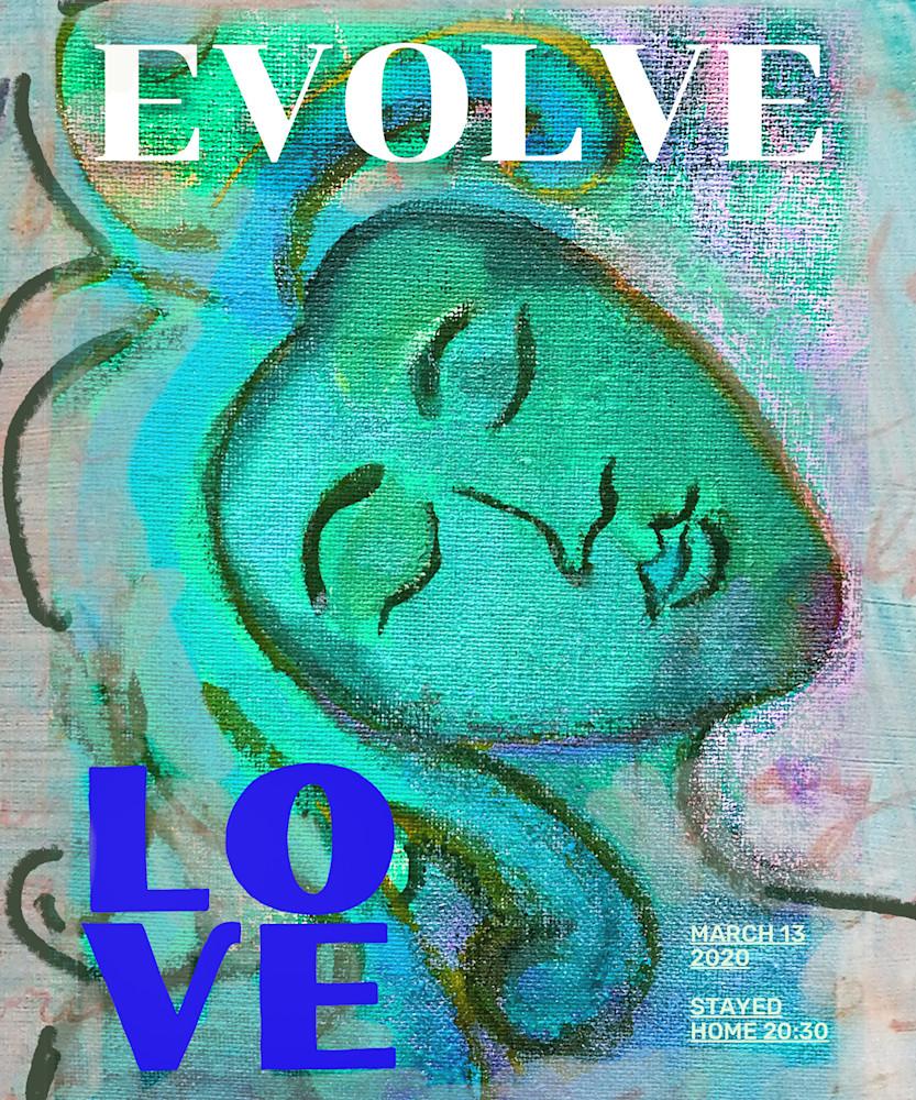 Evolve Love (Teal Lovers) Art   Polly Alice Design