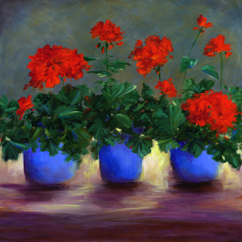 Red Geraniums Art | SHEILA FINCH FINE ART