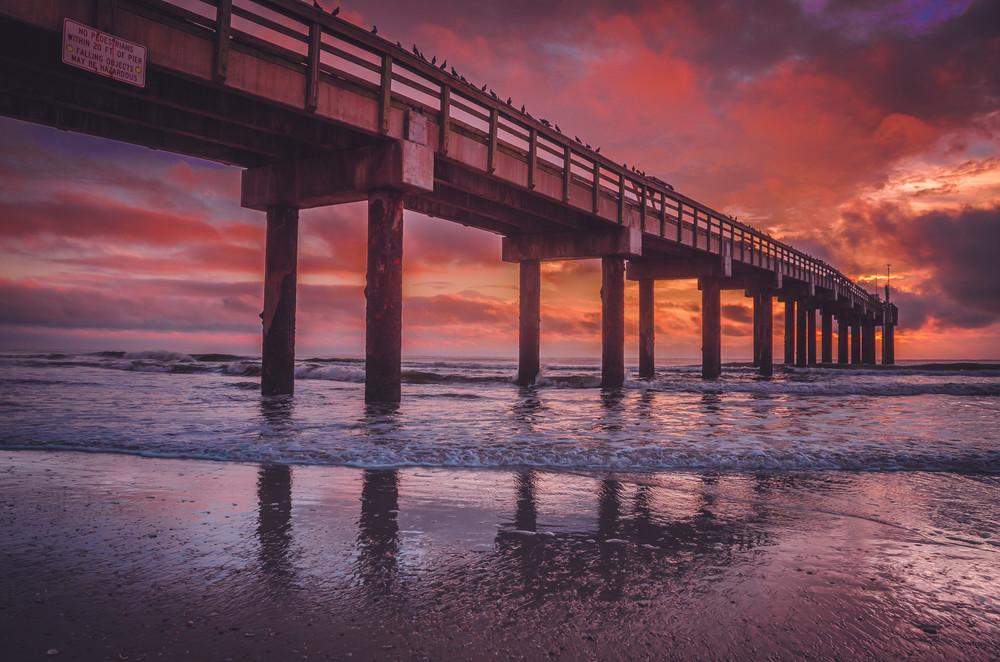 St. Augustine Pier Sunrise Photography Art   kramkranphoto