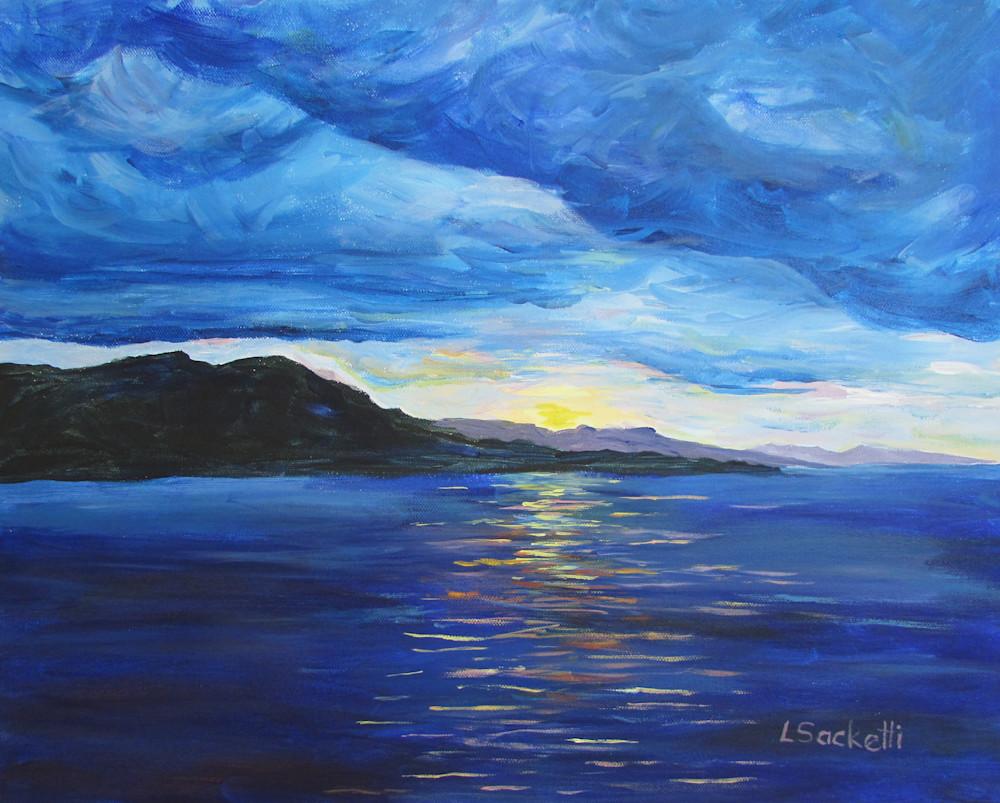 Sunset Over Jamaica Art   Linda Sacketti