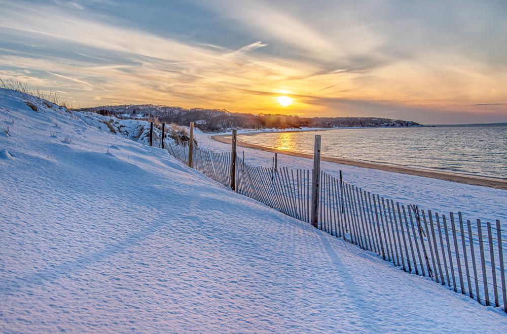 Lambert's Cove Beach Snow Art | Michael Blanchard Inspirational Photography - Crossroads Gallery