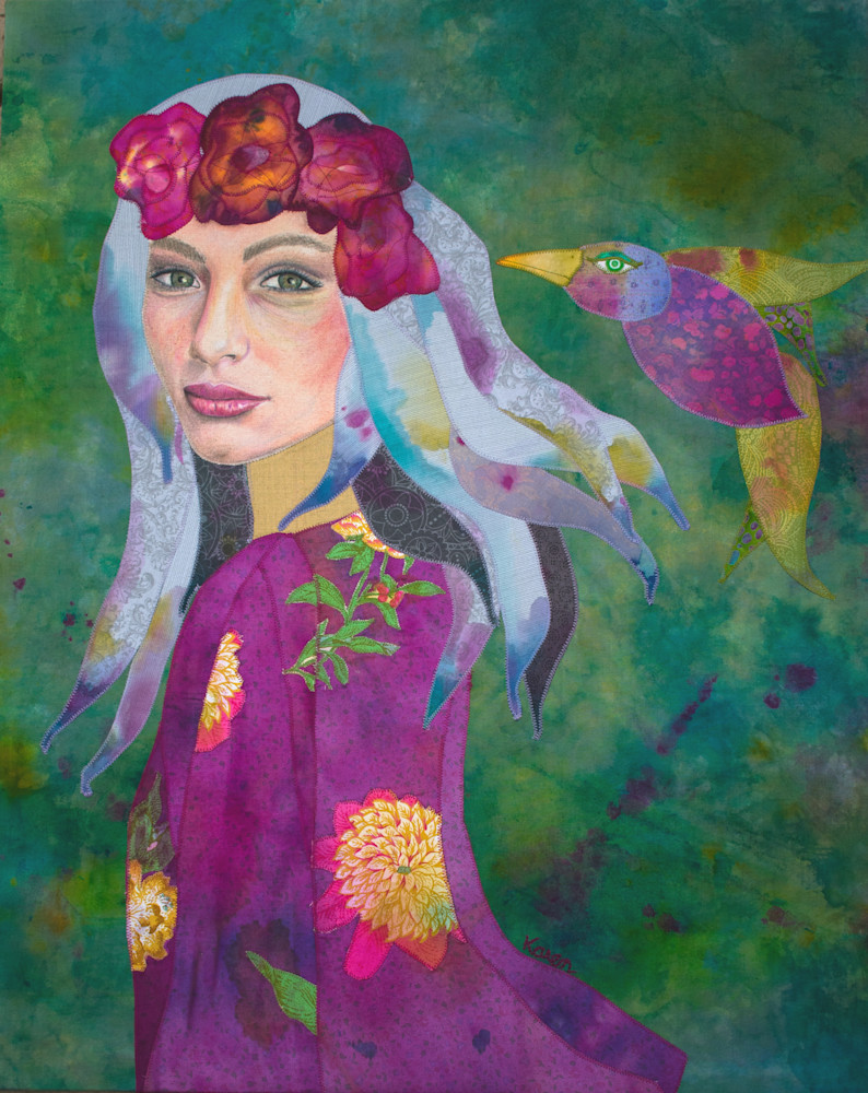 Scarlet Begonias Portrait
