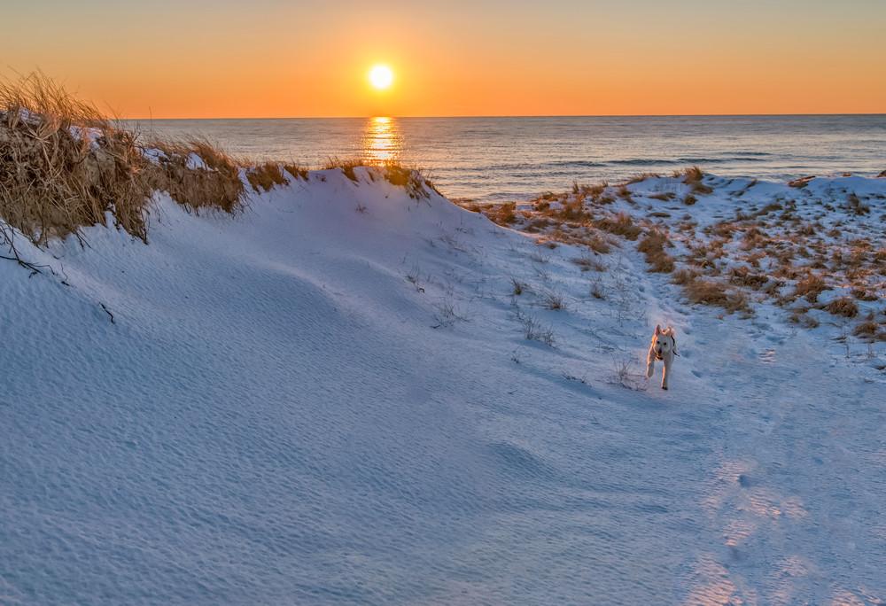 Brodie Aquinnah Winter Sunset Art | Michael Blanchard Inspirational Photography - Crossroads Gallery