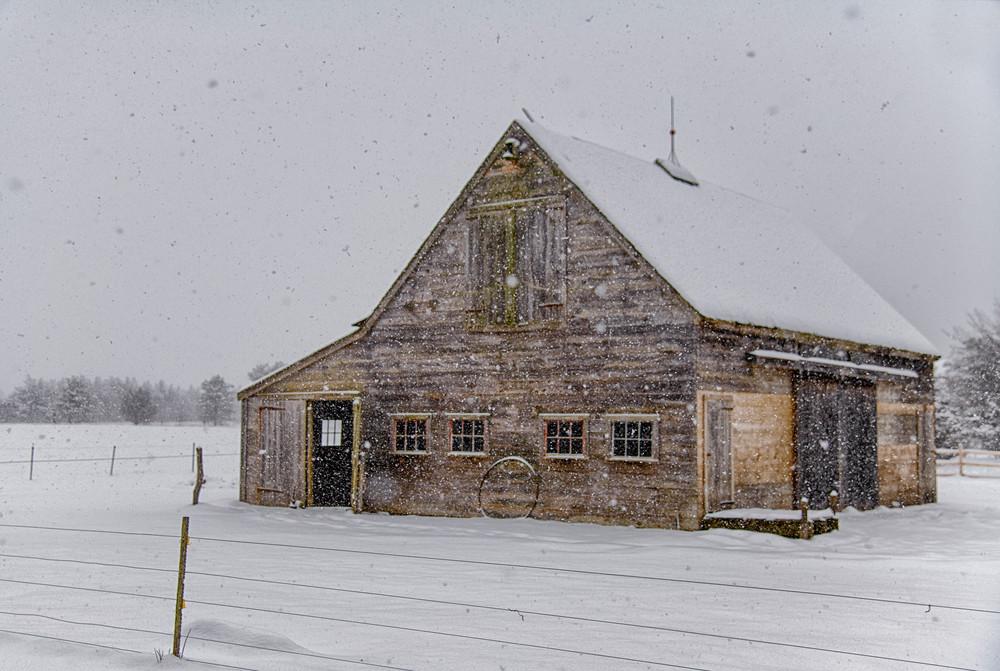 Honey Barn Snow Art | Michael Blanchard Inspirational Photography - Crossroads Gallery