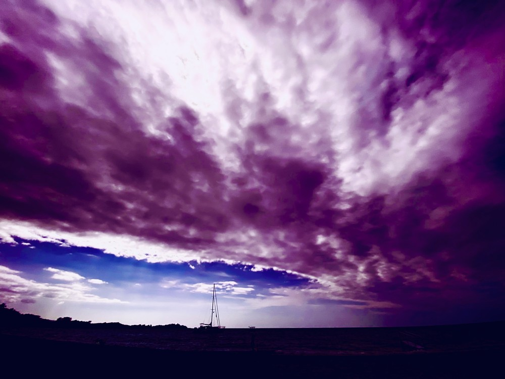 Purple Sky At Night Photography Art   Visionary Adventures, LLC
