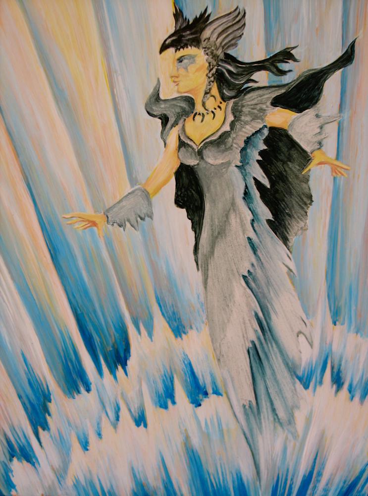 Raven Woman Rising Art   treshamgregg - spiritart