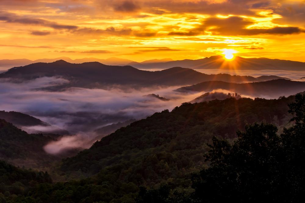 Fire over the Smokies - North Carolina fine-art photography prints