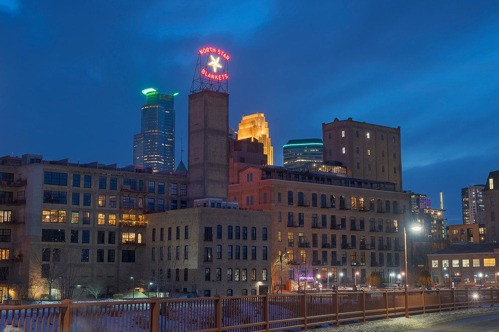 Mill District Winter Photography Art | William Drew Photography