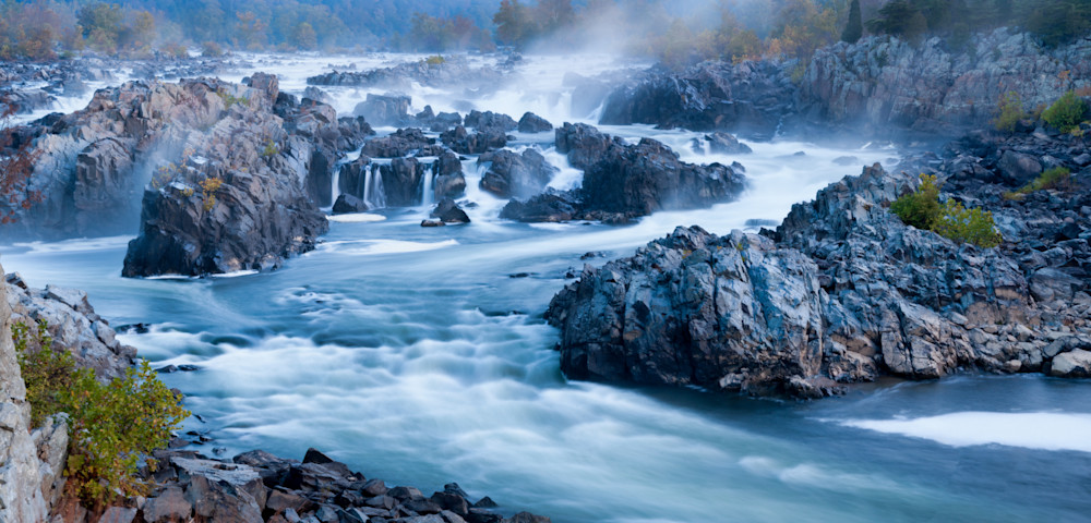 Mist Rises Over Great Falls