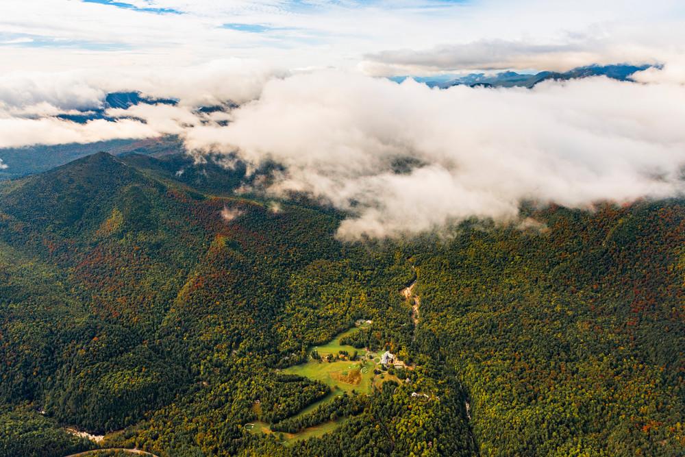 Ausable Club And Noonmark Mt Aerial Photography Art | Kurt Gardner Photogarphy Gallery