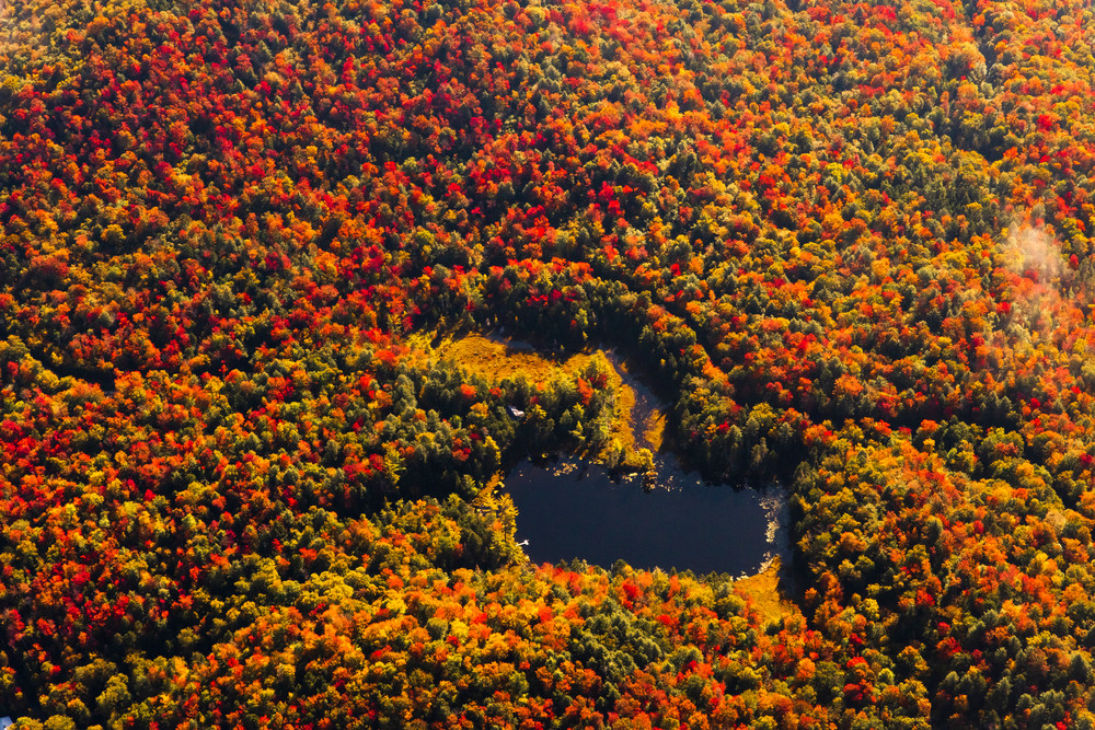 Big Chief Pond Fall Aerial Photography Art   Kurt Gardner Photogarphy Gallery