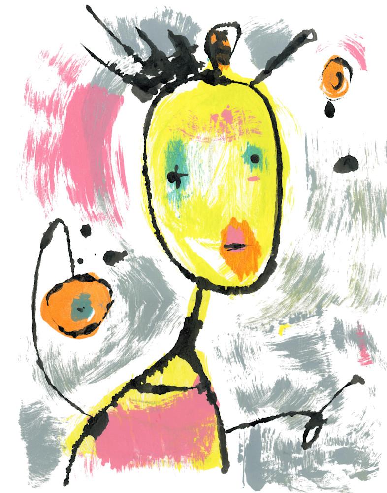 Clown blot art painting by Marsha Carrington