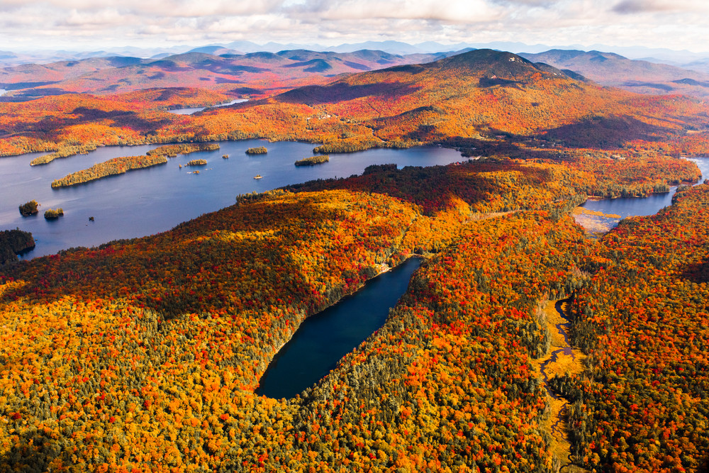 Crystal And Blue Mt Lake Fall Aerial Photography Art | Kurt Gardner Photogarphy Gallery