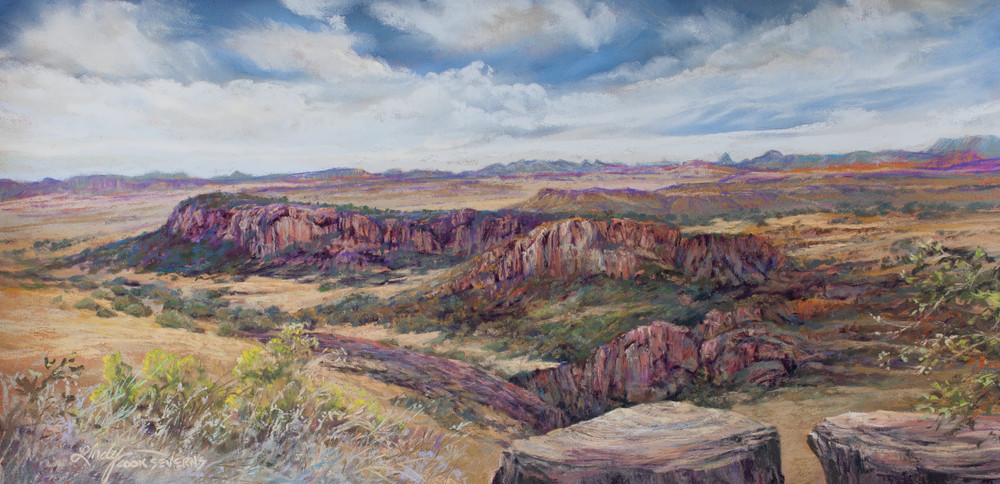 Fort Davis In Days Gone By, Print Art   Lindy Cook Severns Art