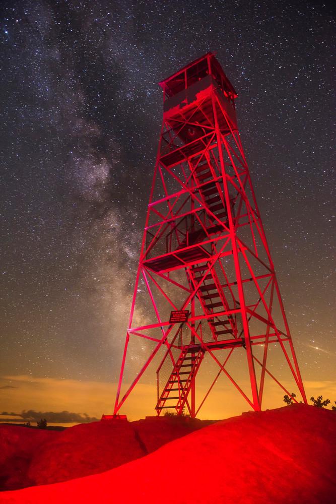 Bald Mt Red Fire Tower Milky Way Photography Art   Kurt Gardner Photogarphy Gallery