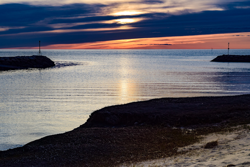 Rock Harbor Entrance Photography Art   The Colors of Chatham