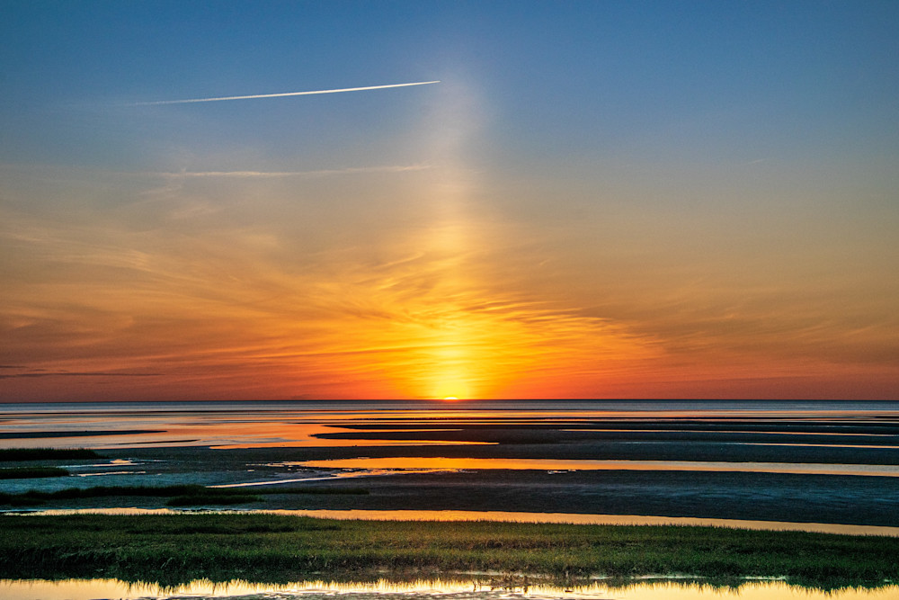 Low Tide Sunset At Skaket Beach Photography Art | The Colors of Chatham