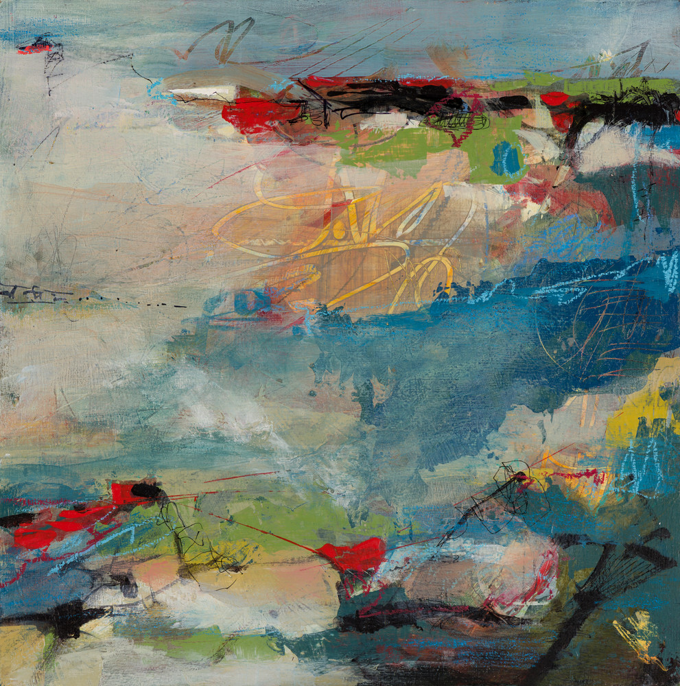 Up Early is a fine art print from Laura McRae Hitchcock's abstract coastal landscape series.