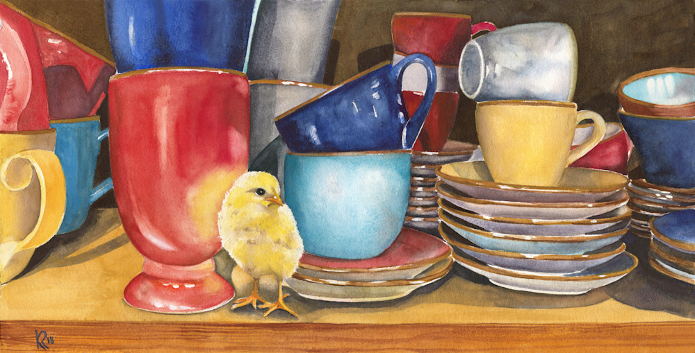 Chick N' Dishes  Art | Katherine Rodgers Fine Art