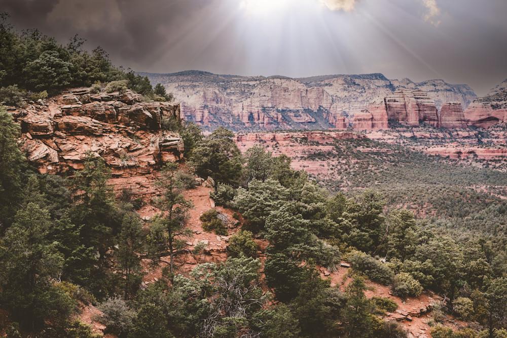 Storm Over Sedona - stormy winter skies over red rocks in Arizona photograph print
