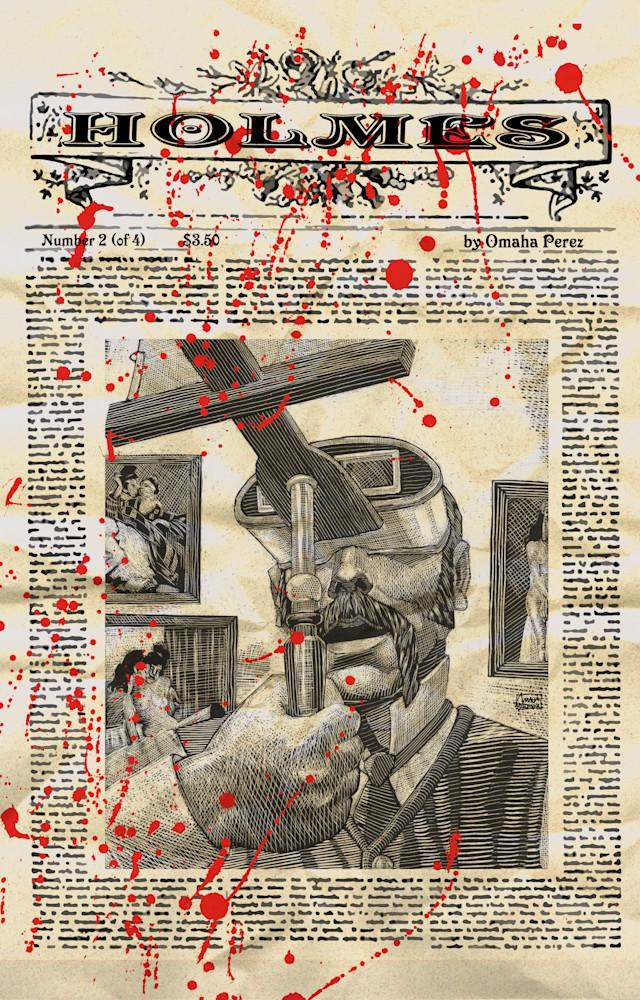 Holmes: Haydn's Head Issue 2 Cover Art | Omaha Perez Art