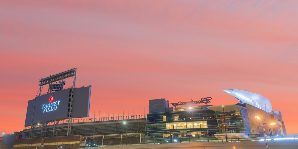 Target Field Sunset Photography Art   William Drew Photography