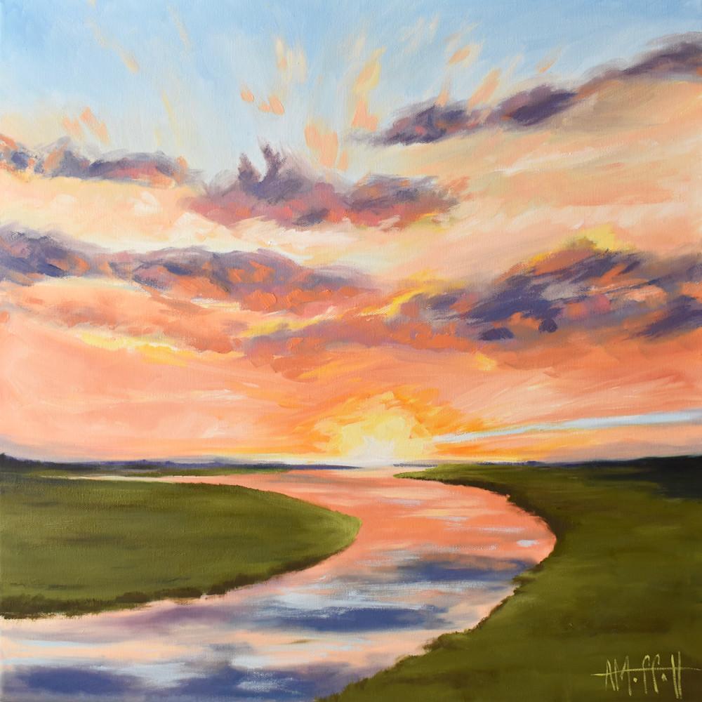 Giclee Print Good Morning Sunrise over the Marsh by April Moffatt