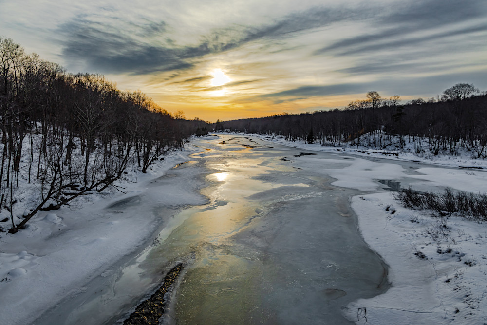 Moose River Sunset Photography Art   Nelson Rudiak Photography