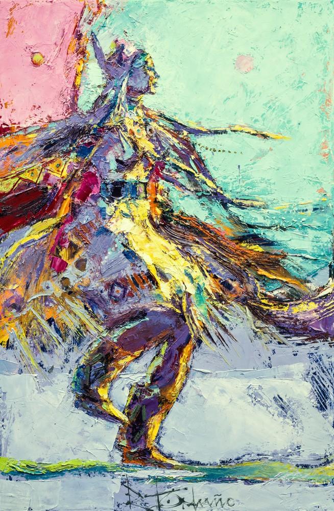 Shawl Dancer Aqua Art | robertorduno