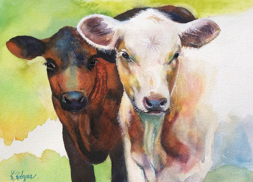 How Now Young Cows? Art | Katherine Rodgers Fine Art