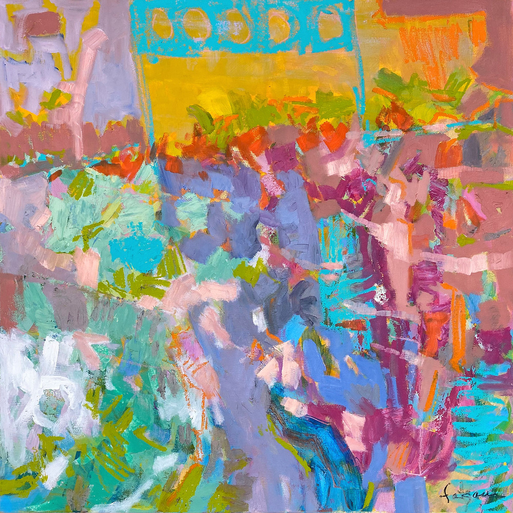 Colorful Abstract Canvas Print by Dorothy Fagan