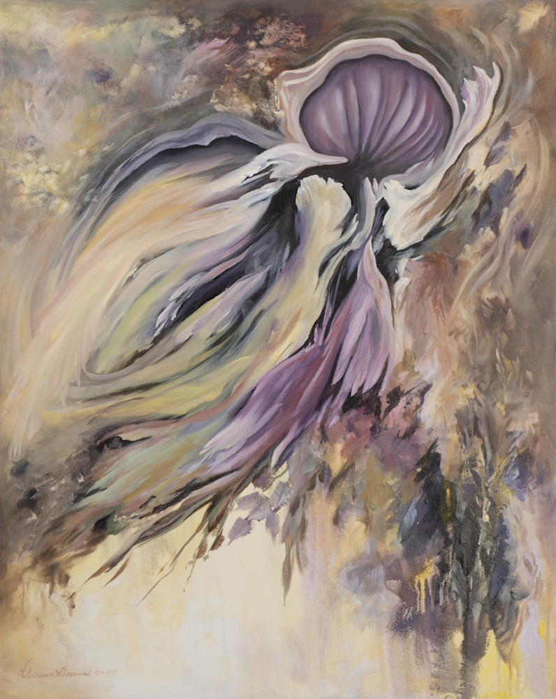 Looking Within   #32 Of 100   The Journey Of 100 Paintings Series Art   Valerieann Giovanni - Fine Art