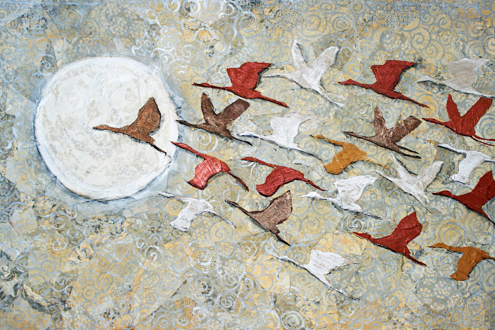 To The Moon Print by Sharon Tesser