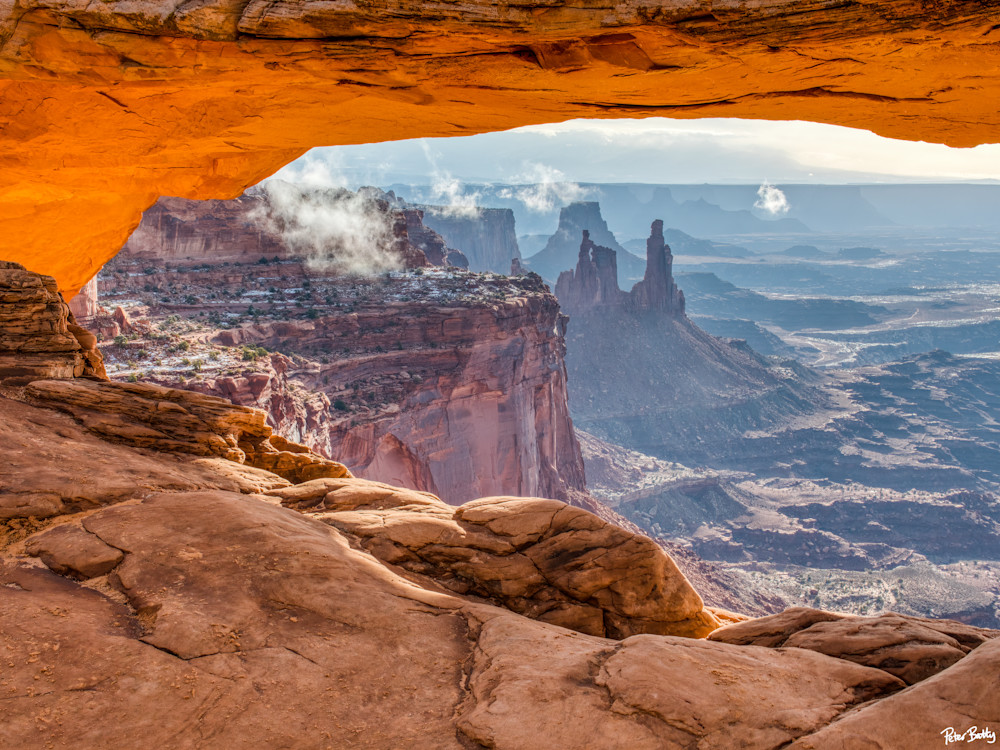 Washer Woman In The Clouds, From Mesa Arch Photography Art | Peter Batty Photography