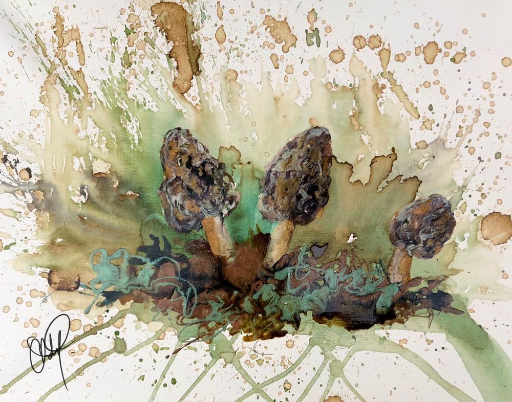 Morel Mushroom Original Artwork