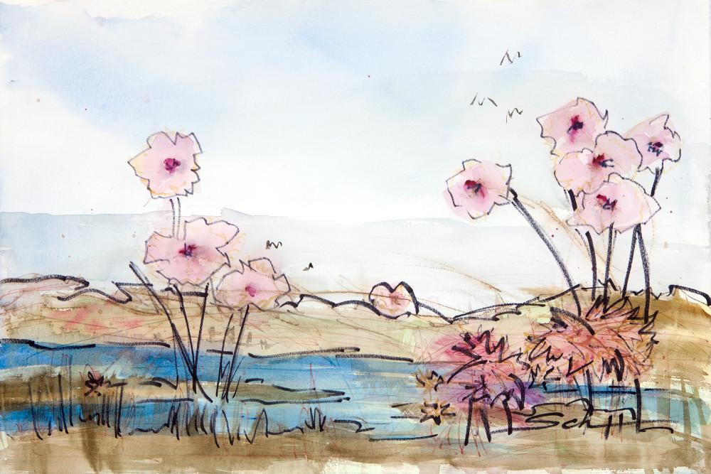 Marsh Flowers Art | Elaine Schaefer Hudson Art