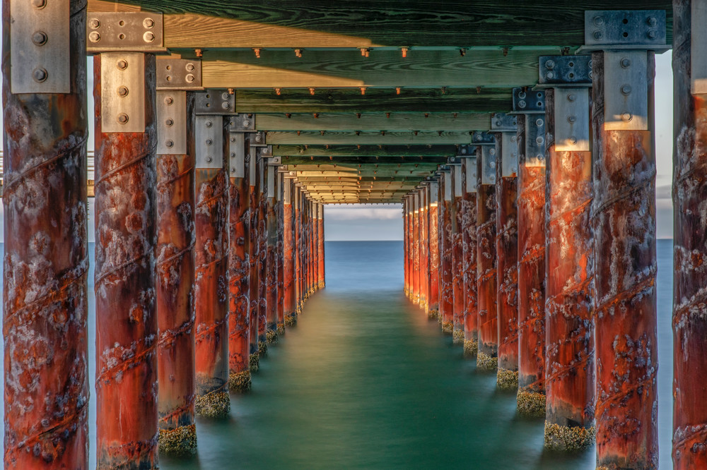 Oak Bluffs Pier Sunset Color Art | Michael Blanchard Inspirational Photography - Crossroads Gallery