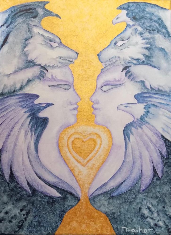 Goddess Guardians Of The Golden Heart Art | treshamgregg - spiritart