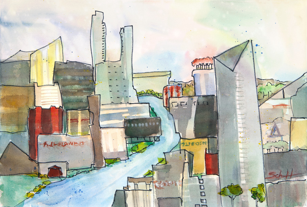 Rivers Sweep Art   Elaine Schaefer Hudson Art