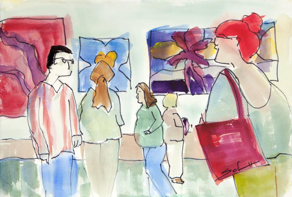 The Opening Art   Elaine Schaefer Hudson Art