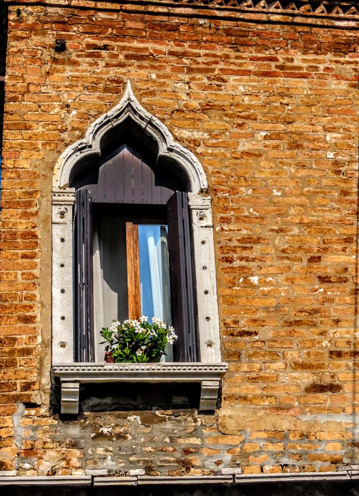 Window In The Sunny Spotlight  In Venice Photography Art   Photoissimo - Fine Art Photography