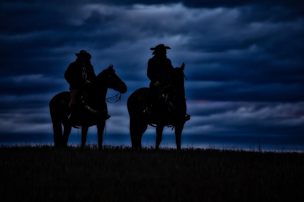 Sunrise Horse and Rider Silhouette