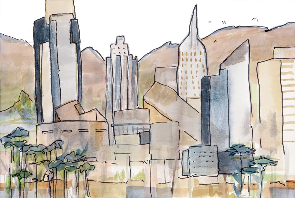 Against The Hills Art | Elaine Schaefer Hudson Art