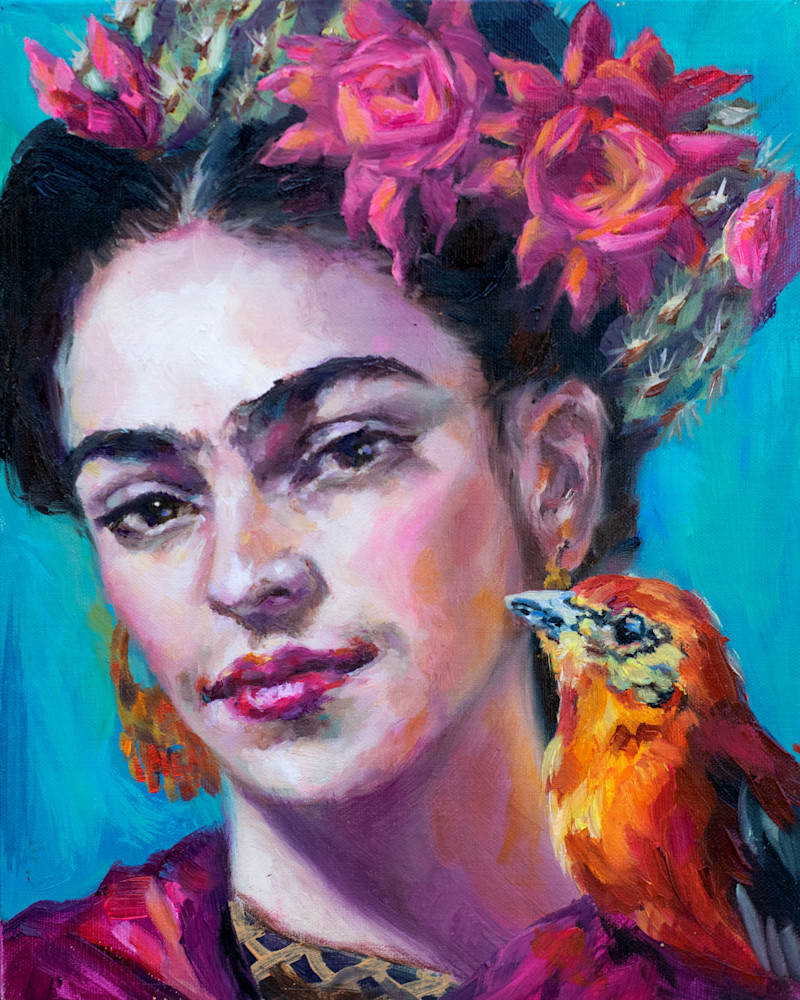 Cactusqueen: Frida 1 Art | Ans Taylor Art