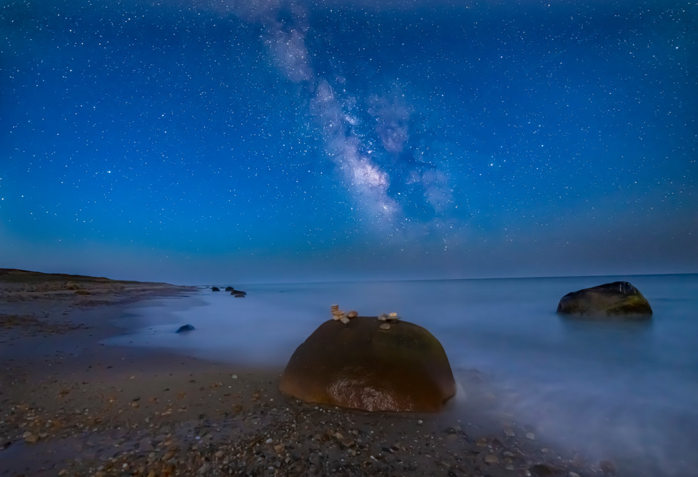 Moshup Beach Milky Way Art   Michael Blanchard Inspirational Photography - Crossroads Gallery