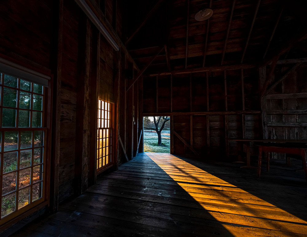 Far Barn Light Path Art   Michael Blanchard Inspirational Photography - Crossroads Gallery