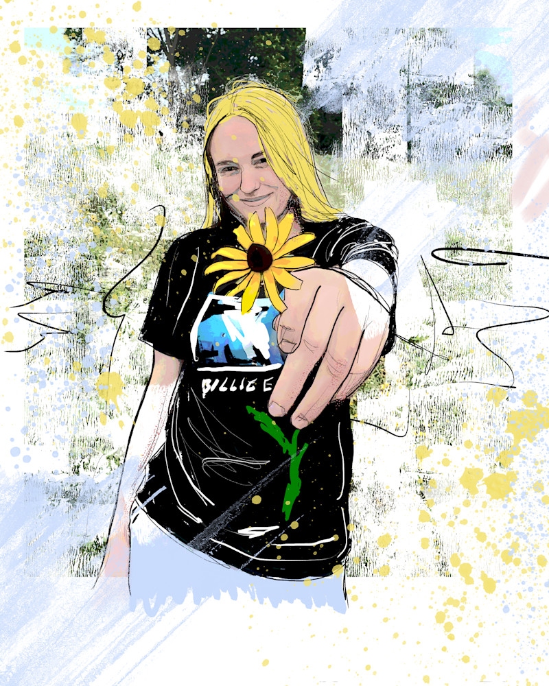 Sunflower Girl Art   John Knell: Art. Photo. Design