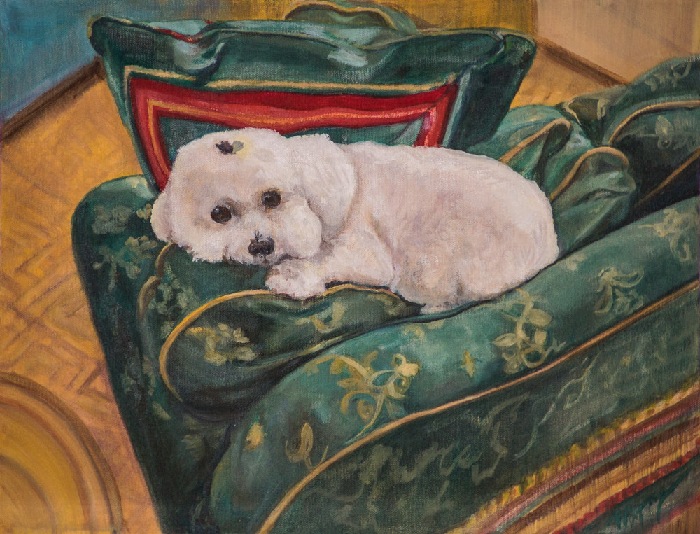 CJ by artist Muffy Clark Gill will steal your heart if you like cute pups.